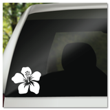 Tropical Hibiscus Flower Vinyl Decal Sticker