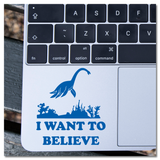 Nessy Lock Ness Monster I Want To Believe Vinyl Decal Sticker
