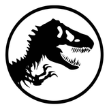 Jurassic Park T-Rex Logo Vinyl Decal Sticker