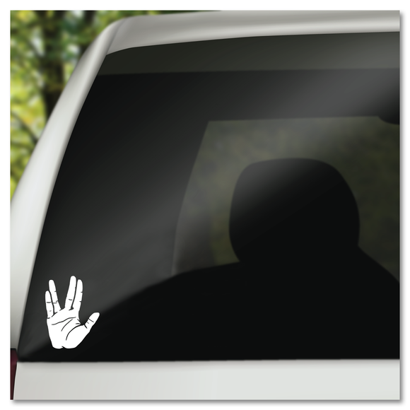 Star Trek Spock Hand Live Long And Prosper Vinyl Decal Sticker