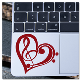 Love Notes Music Heart Vinyl Decal Sticker