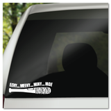 The Walking Dead Negan's Lucille Eeny Meeny Miny Moe TWD Vinyl Decal Sticker