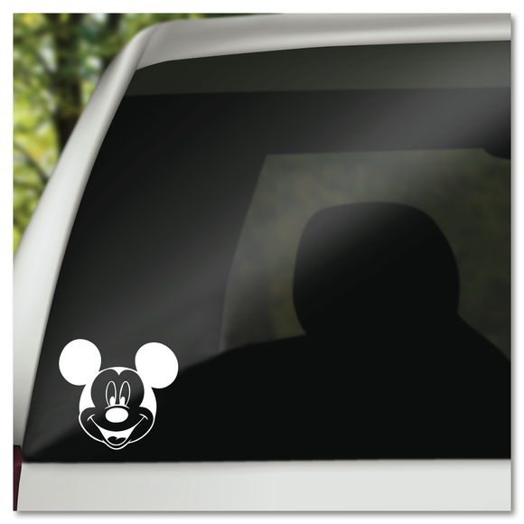 Classic Mickey Mouse Face Disney Vinyl Decal Sticker