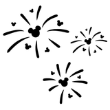 Disney Mickey Mouse Fireworks  Vinyl Decal Sticker