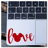 Mickey Mouse Icon Hidden Mickey in Word Love Vinyl Decal Sticker