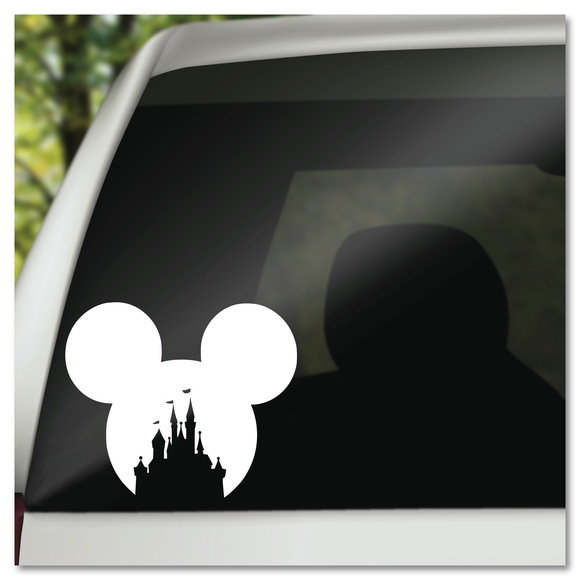 Mickey Icon Ears Disney Castle Vinyl Decal Sticker