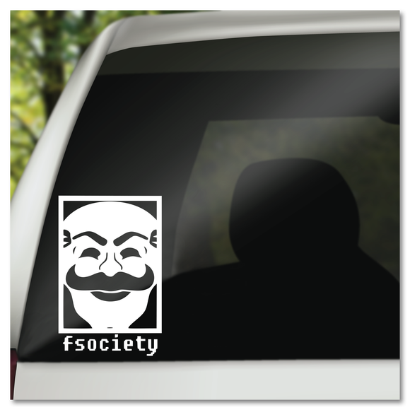 Mr. Robot Fsociety Mask Logo Vinyl Decal Sticker