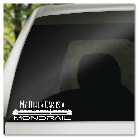My Other Car Is A Monorail Disney Tomorrowland Vinyl Decal Sticker