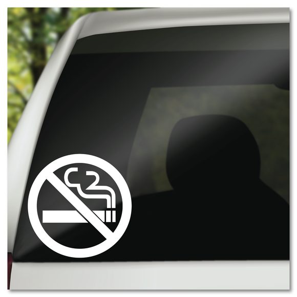 No Smoking Cigarette in Crossed Out Circle Vinyl Decal Sticker