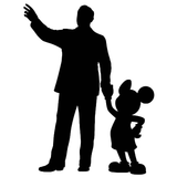 Walt Disney Mickey Mouse Partners Statue Vinyl Decal Sticker