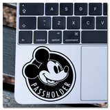 Disneyland Walt Disney World WDW Passholder Magnet Mickey Mouse Vinyl Decal Sticker