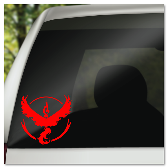 Pokemon Team Valor Moltres Logo Prints Vinyl Decal Sticker