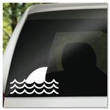 Shark Fin Waves Vinyl Decal Sticker