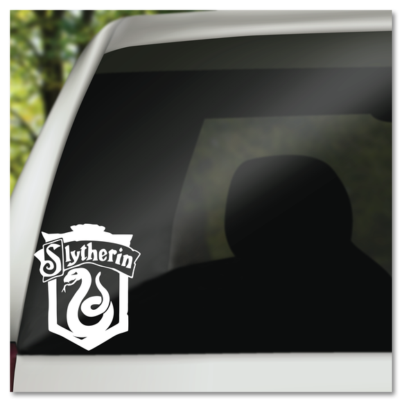 Harry Potter Slytherin Hogwarts House Shield Vinyl Decal Sticker