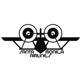 SMA Santa Monica Airlines Airplane Logo Vinyl Decal Sticker