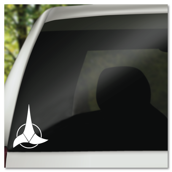 Star Trek Klingon Insignia Emblem Vinyl Decal Sticker