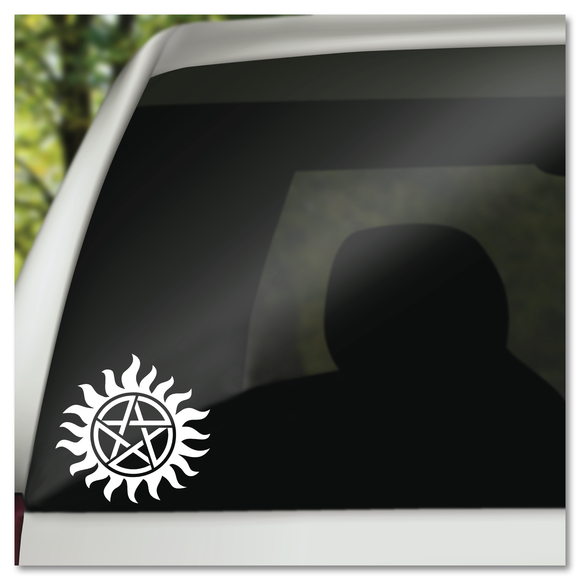 Supernatural Sam Dean Winchester Hunters Tattoo Symbol Pentigram Pentacle Vinyl Decal Sticker