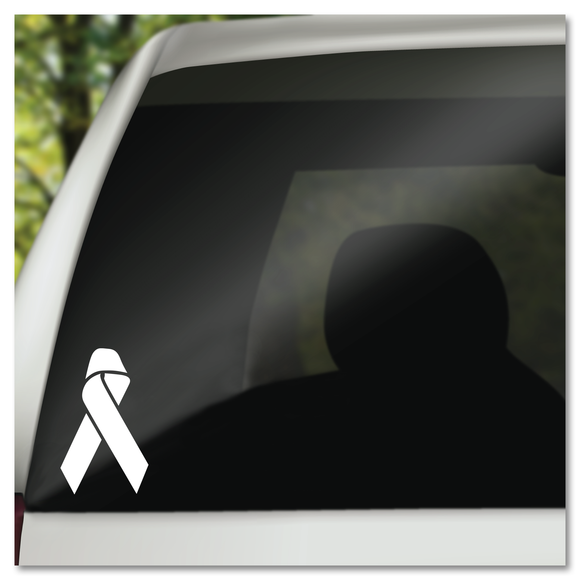 Awareness & Survivor Ribbon Vinyl Decal Sticker