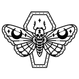 Death's Head Moth In Coffin Tattoo Flash Silence of the Lambs Vinyl Decal Sticker