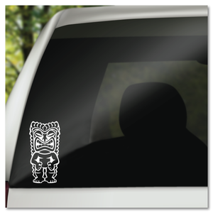 Hawaiian Tiki God Icon Vinyl Decal Sticker