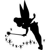 Disney Peter Pan Tinkerbell Tink with Fairy Dust Vinyl Decal Sticker