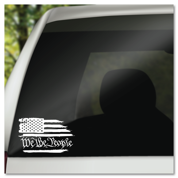 We The People American Flag Constitution of United States of America Vinyl Decal Sticker