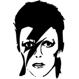 David Bowie Ziggy Stardust Vinyl Decal Sticker