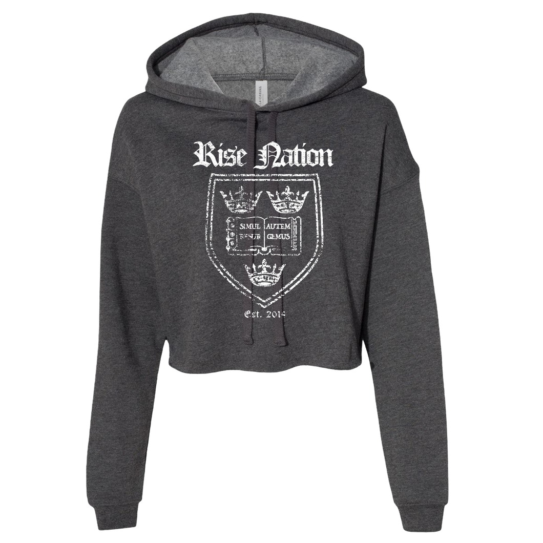 Rise Nation Crest Cropped Hoodie