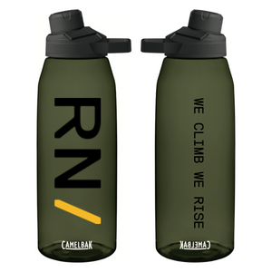 """We Climb We Rise"" Water Bottle 50oz"