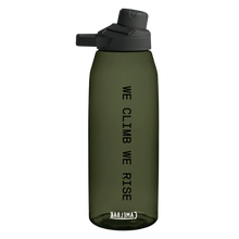"Load image into Gallery viewer, ""We Climb We Rise"" Water Bottle 50oz"
