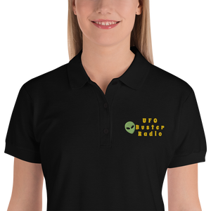 UFO Buster Radio Embroidered Women's Polo Shirt