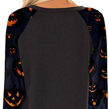 Load image into Gallery viewer, Halloween Print Women Crewneck  Long Sleeve Casual Pullovers