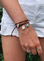 Load image into Gallery viewer, Ocean breeze leather bracelet