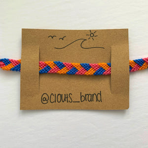 Braided orange bracelet
