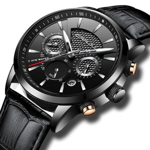 Mens Casual Watch / Seconds Minutes Hours Date And Stop Watch Function