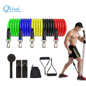 Resistance Bands Fitness Equipment Works Arms Legs Chest And Back Muscles