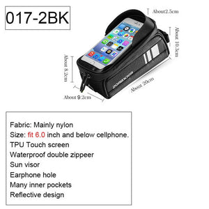 Versatile Water Repellent Bike Bag With Protective Touch Screen For Your Mobil Phone
