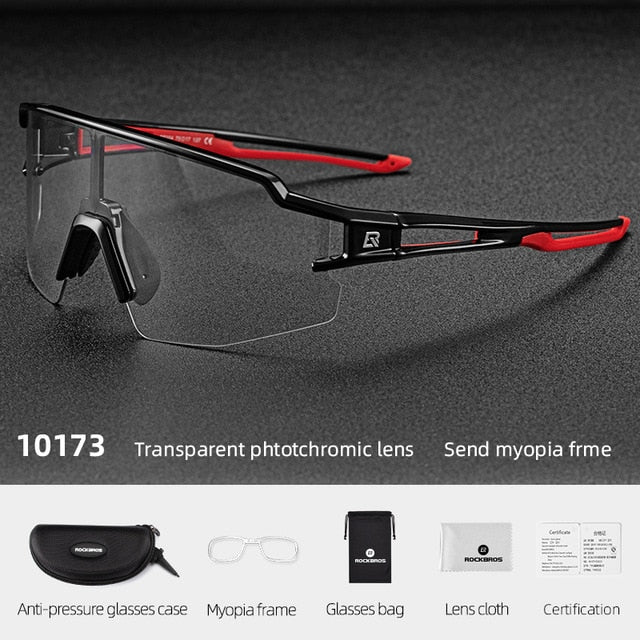 Lightweight Cycling Photochromic Sport Sunglasses