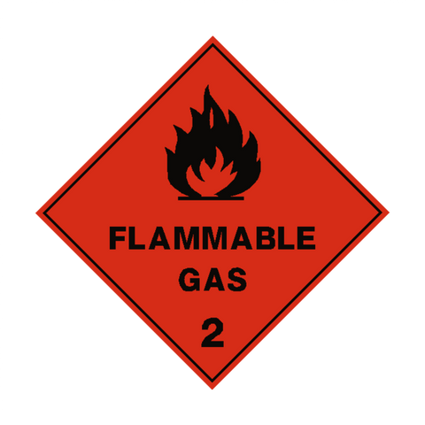 Flamable gas sticker