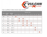 "Vulcan ""X"" 8mm (toe clipped fronts) MNC Horseshoes"