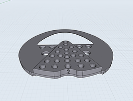 "Heartbar ""Half-Mesh"" 2 degree 3D Printed Pad (hind shape)"