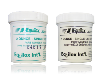 "Equilox ""Single Use"" Adhesive pot (black & white)"