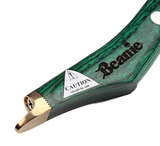 "Beanie Tools Ltd ""Wide Blade"" LH Green Handle (with brass topper)"