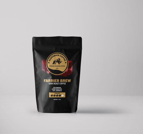 """Farrier Brew"" Ground Coffee (227g bag) - Silverback Chaps Ltd"
