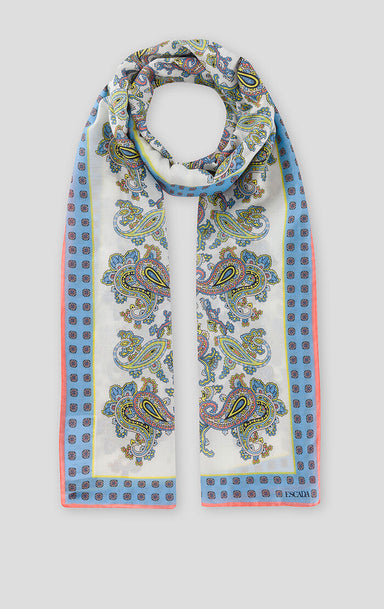Cotton Silk Paisley Print Scarf - ESCADA