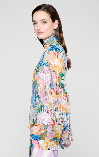 ESCADA Residency Collection - Sequin and Crystal Embellished Top