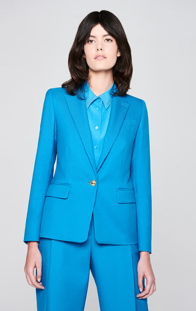 Cotton Wool Stretch Blazer - ESCADA