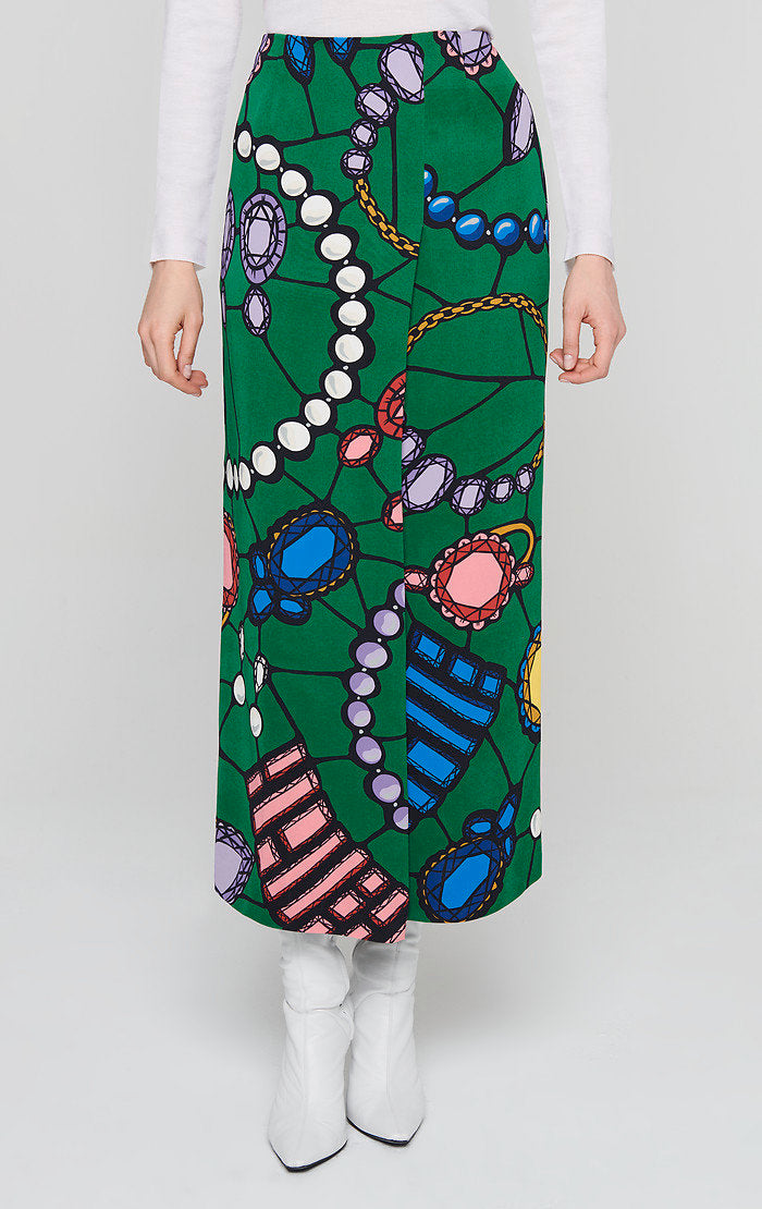 ESCADA Residency Collection - Jewel Printed Skirt