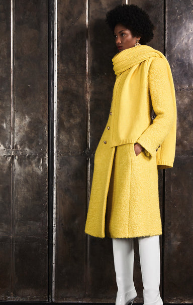 ESCADA Mohair Wool Bouclé Coat