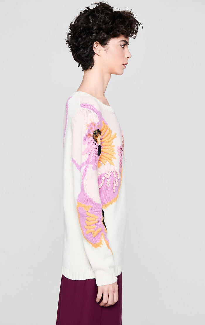 ESCADA Wool Cashmere Embroidered Sweater